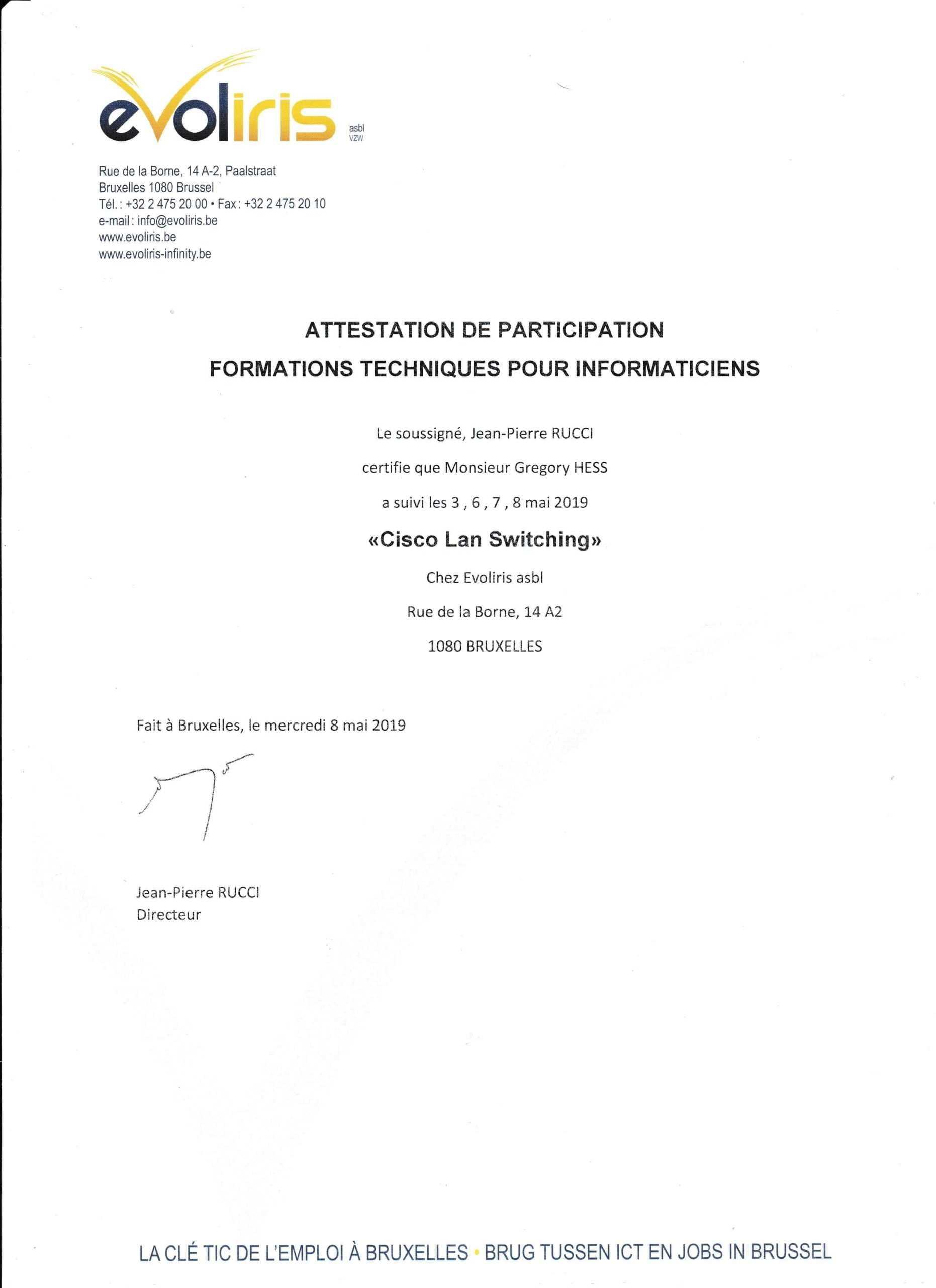 Formation Cisco CCNA - Module Lan & Switching