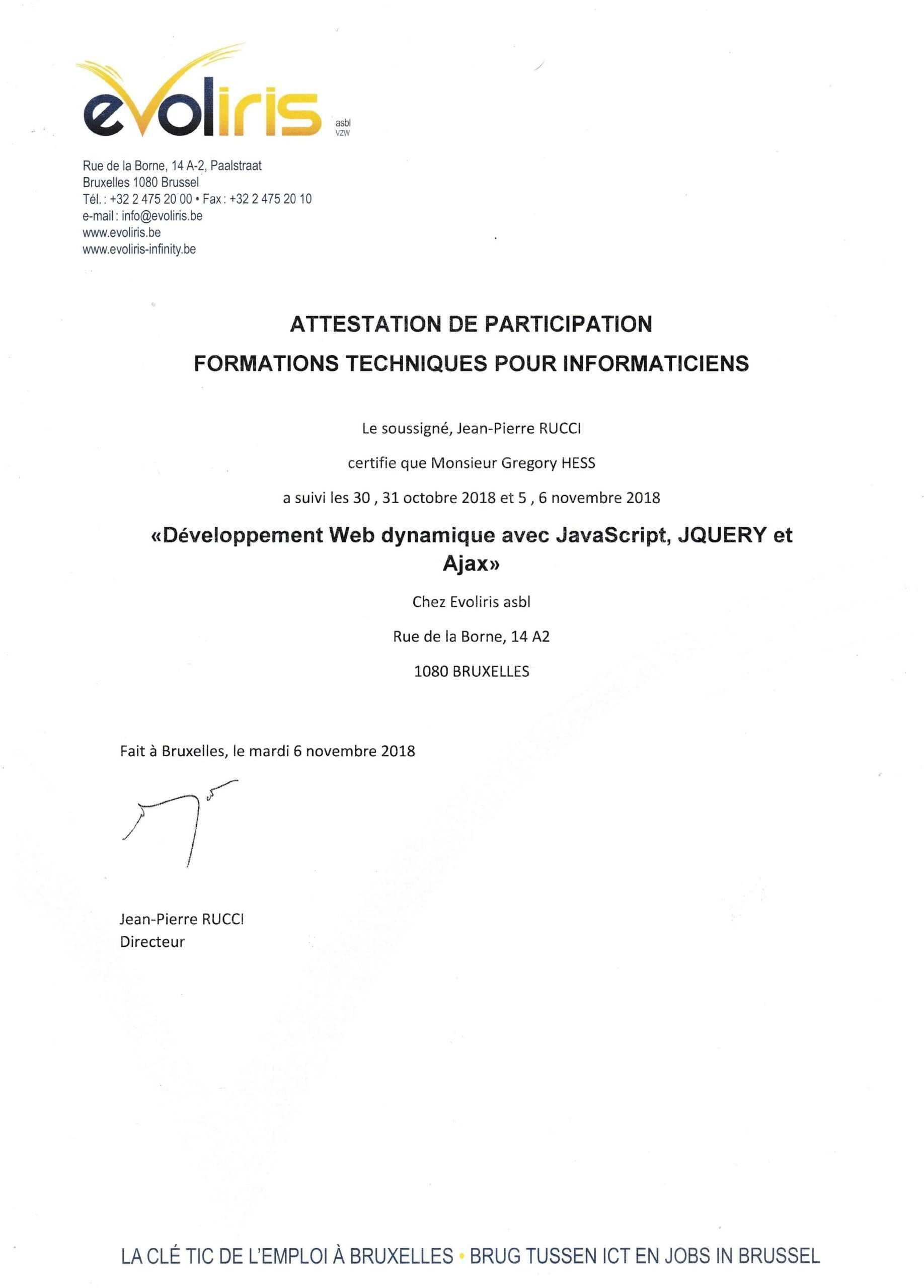 Formation JavaScript, Jquery, Ajax