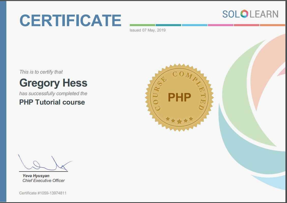 E-Larning SoloLearn- PHP Tutorial