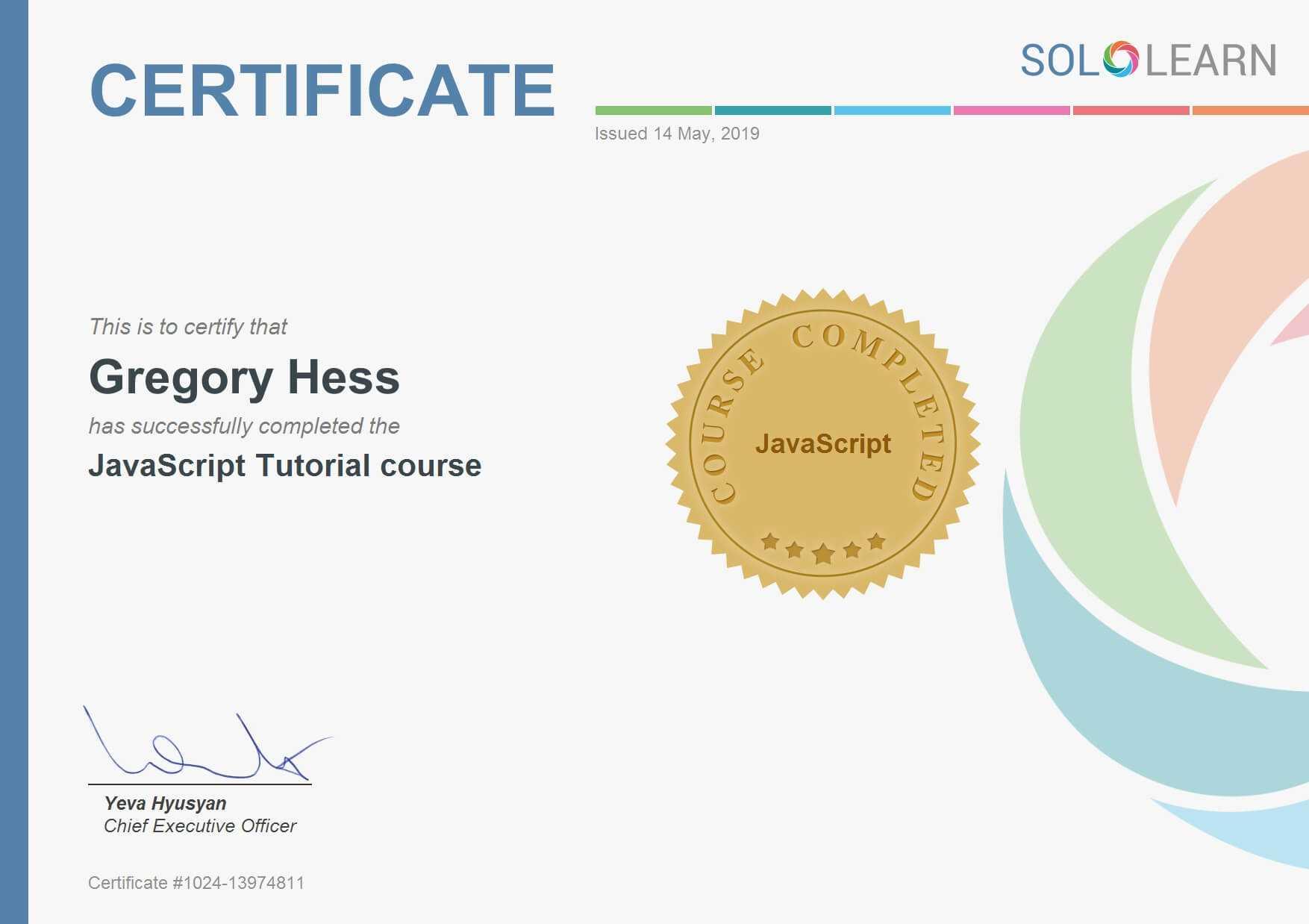 E-Larning SoloLearn- JavaScript Tutorial